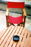 Red chair. And table royalty free stock photo