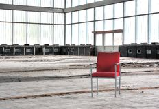 Red chair Royalty Free Stock Photography