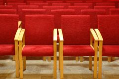 Red chair in auditoriums Royalty Free Stock Image