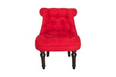 Red chair in Baroque style fabric velor Royalty Free Stock Photography