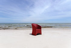 Red Chair On Beach Royalty Free Stock Photo