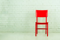 Red chair royalty free stock image