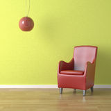 Red chair on green Stock Photography