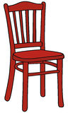 Red chair. Hand drawing of a red wooden chair Stock Photo