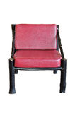 Red chair isolated Stock Image