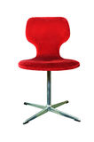 Red chair isolated on white Royalty Free Stock Photo
