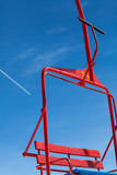 Red chair lift Stock Photography