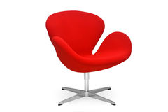 Red chair. Red modern office chair in white background Royalty Free Stock Photo