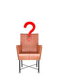 Red chair with question Royalty Free Stock Image
