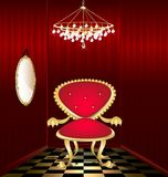 red chair in a red room Stock Images