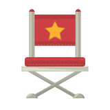 Red chair star director film. Vector illustration eps 10 Royalty Free Stock Photo