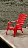 Red Chair by Water Royalty Free Stock Photos