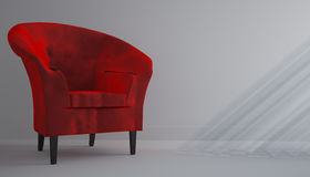 Red chair. In the white room Royalty Free Stock Images