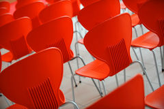 Red chairs Stock Photography