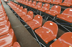 Red chairs. Rows of chairs on a show Royalty Free Stock Images