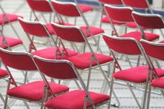 Red chairs Stock Photos