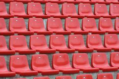 Red chairs Stock Image