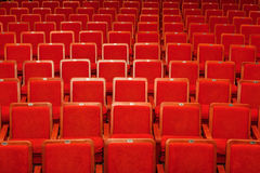 Red chairs for the audience in the cinema or theater Royalty Free Stock Image