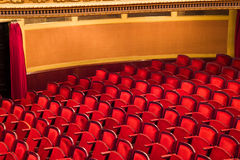 Red chairs in classic theater Stock Photos