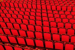 Red chairs in concert hall. Empty red chairs in concert hall Stock Image