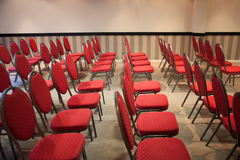 Red chairs in conference room Royalty Free Stock Photography