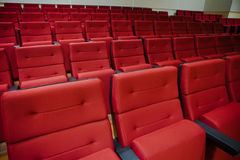 Red chairs in the hall Stock Images