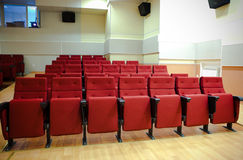 Red chairs in the hall Royalty Free Stock Photography