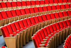 Red chairs. hall for presentation Royalty Free Stock Image