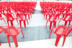 Red chairs of meeting Stock Photography