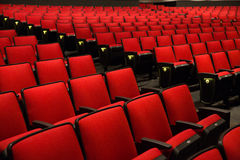 Red Chairs in movie theater Royalty Free Stock Photo