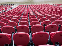 Red chairs at the new Levi's stadium Santa Clara California Stock Image