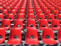 Red Chairs Of Empty Stadium Royalty Free Stock Image