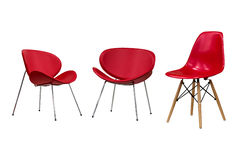 Red chairs, part 2. Stock Photos