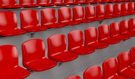 Red chairs Royalty Free Stock Photos