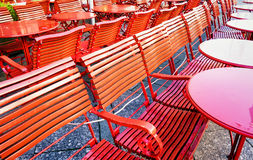 Red chairs Royalty Free Stock Photography