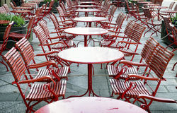 Red chairs Royalty Free Stock Image