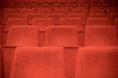 Red seats Stock Photos