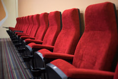 Red Chairs Theatre Royalty Free Stock Photos