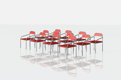 Red chairs on white background Royalty Free Stock Photos