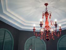 Red Chandelier stock image
