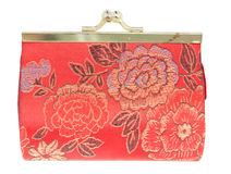 Red change purse  chinese style isolated on white background Stock Images
