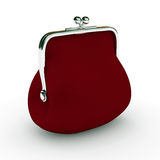 Red changing purse Royalty Free Stock Images