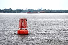 Red Channel Marker Buoy Royalty Free Stock Image