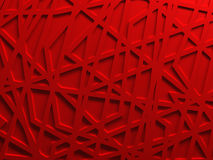 Red chaos mesh background rendered. Red chaos mesh background 3D render Stock Image