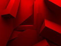 Red Chaotic Architecture Abstract Background Royalty Free Stock Image