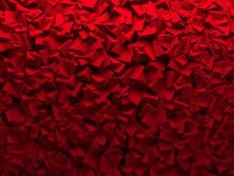 Red Chaotic Cubes Wall Background Royalty Free Stock Photos