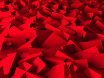 Red Chaotic Cubes Wall Background. 3d Render Illustration vector illustration
