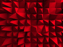 Red Chaotic Cubes Wall Background. 3d Render Illustration stock illustration