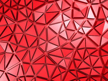 Red Chaotic Polygonal Mosaic Pattern Background Stock Photography