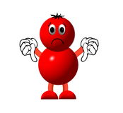 Red character. A red character with his thumbs pointing down Royalty Free Stock Image